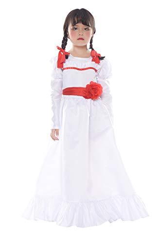 SHANSHAN Girls Annabelle Horror Costume for Halloween Party 120cm