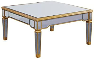 "Elegant Lighting Florentine Coffee Table with Gold/Clear Mirror, 38"" by 38"" by 19"""