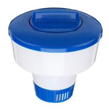 (PP Swimming Pool Floating Automatic Dispenser Chemical Pill Case Medicine Box Aquarium SPA Water Park - Camping & Hiking Tool EDC & Emergency Kit - 1 X 1 Pcs Fly Fishing Lanyard)