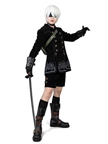 Cosfun Nier:Automata Yorha 9S Cosplay Costume mp003599 (Men M)