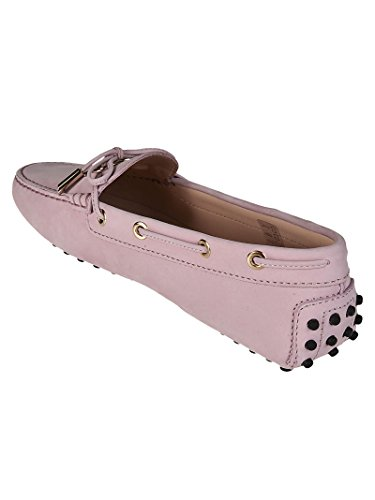 Donna Pink Tod's Leather Loafers Gommino Rosa Logo z6wqFw1
