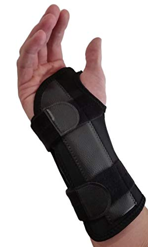 Carpal Tunnel Wrist Brace Night Support - Wrist Splint Arm Stabilizer & Hand Brace for Carpal Tunnel Syndrome Pain Relief with Compression Sleeve for Forearm or Wrist Tendonitis Pain Treatment (Right) (Best Wrist Brace For Sleeping)
