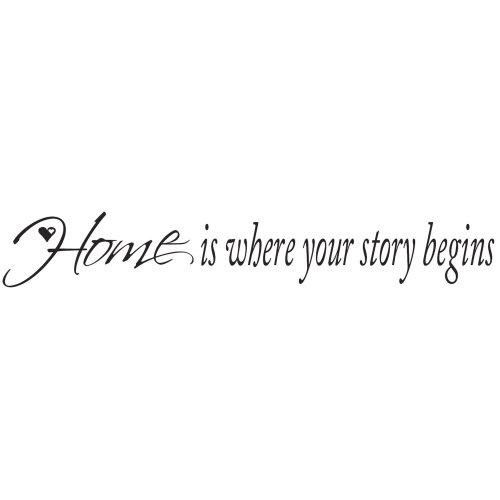 RoomMates Home Is Where Your Story Begins Peel and Stick Quotable (Story Sign Your Where Home Begins Is)