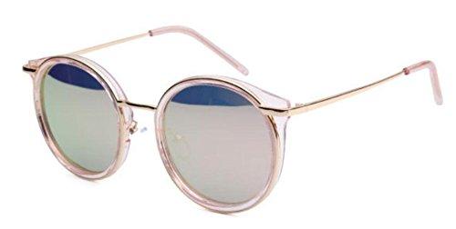 Gafas De Gafas Sol Redondo Marco De Pink De De De Sol Moda Lady Viaje xFEwqYFr