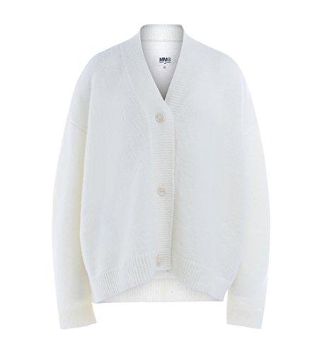 Cardigan MM6 Maisona Margiela in lana bianca Blanco