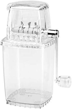 Kunststoff-Eiscrusher Manueller Eiswürfelbrecher Für den häuslichen Gebrauch - Professioneller Barware-Eisbrecher für Drehbewegungen Perfekt für Cocktails A 16 * 12 * 23,5 cm