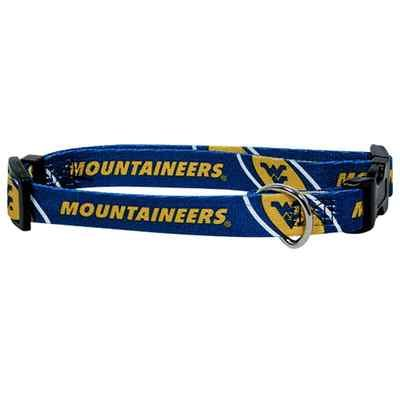 West Virginia Mountaineers Adjustable Pet Dog Collar All Sizes (Medium)