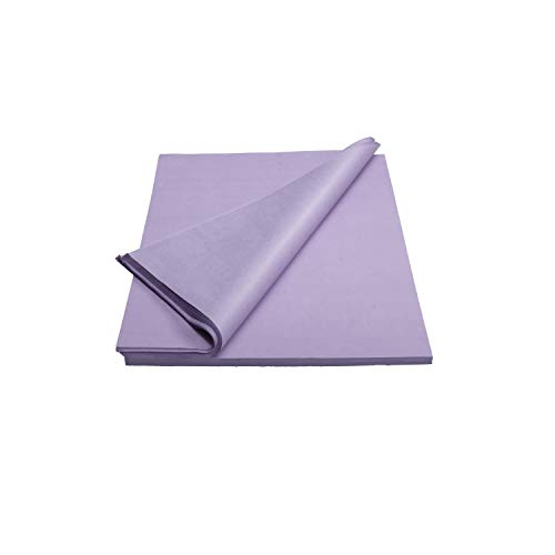 Crown 480 Sheets Bulk Pack Lavender Tissue Paper Gift Wrap – Ream of Paper – 15 inch. x 20 inch. Wrapping Tissue Paper – for Scrapbooking Paper, Art n Crafts, Wrapping Christmas Gifts and More!!