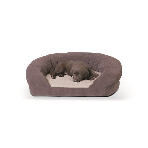 K&H Pet Products Ortho Bolster Sleeper Pet Bed X-Large Gray 50'' by K&H Pet Products