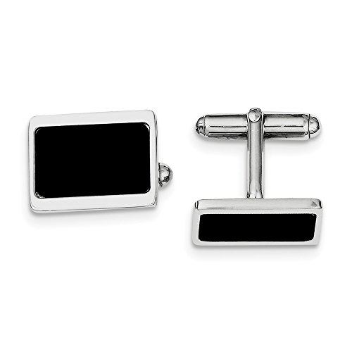 Sterling Silver Rhodium Plated Cuff Links by CoutureJewelers