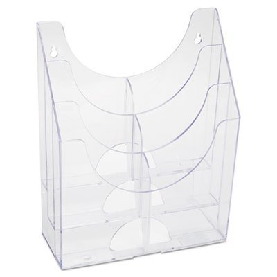 Optimizers Multipurpose Six-Pocket Organizer, 9 3/4 x 4 1/4 x 12, Clear, Sold as 1 Each - Rubbermaid Vertical Sorter