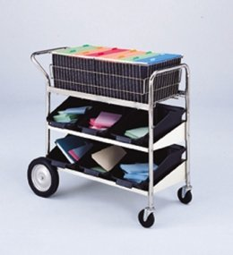 Charnstrom Medium Wire Basket Cart with Two Lower Shelves (B172) by Charnstrom