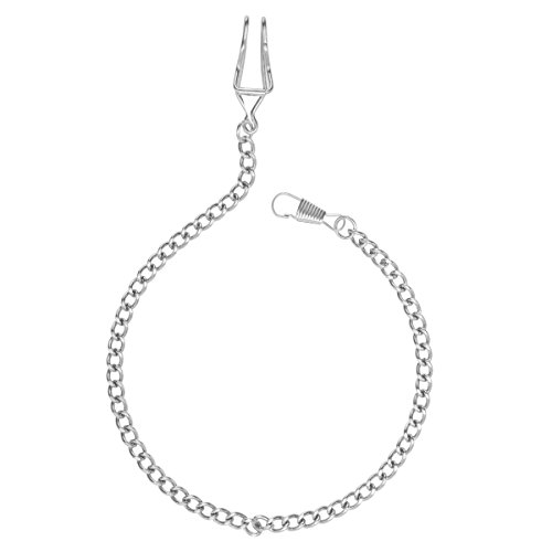 NICERIO Classic Silver Plated Pocket Watch Chain Key Chain