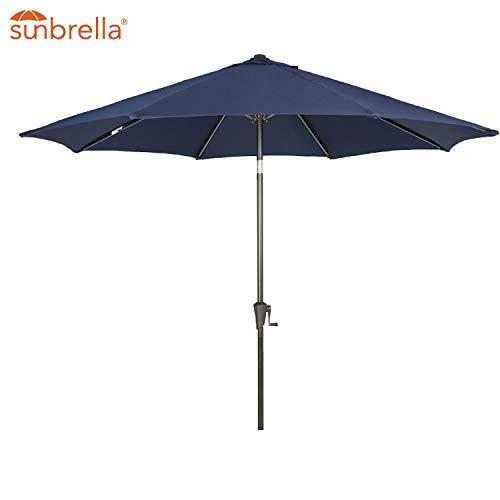 Patio Tree Outdoor Patio Sunbrella Umbrella 9-Feet Aluminum Market Table Umbrella, Canvas Navy