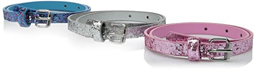 On the Verge Girls' Glitter Belts 3 Pieces, Multi, Small/Medium