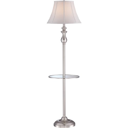 Quoizel Q1055FBN Floor Lamp Lighting, 1-Light, 150 Watt, Brushed Nickel (61