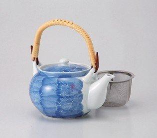 Sumihajikibotan 4go 60464 from Japan small teapot saikai pottery Kyusu