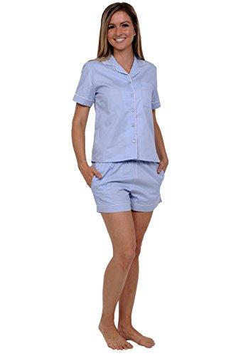 Del Rossa Juniors Cotton Pajamas, Short Woven Pj Set