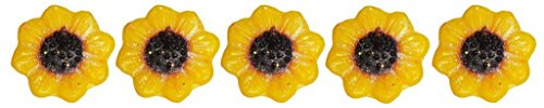 ATORAKUSHON Pack of 30 Smokeless Scented Sunflower Floating Candle Float Candle for Diwali Birthday Party ()