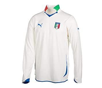 Puma Camiseta de Manga Larga de fútbol de Italia Away Replica, Mujer, 736649, White-Team Gold, Medium: Amazon.es: Deportes y aire libre