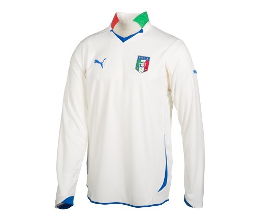 Puma Italia away replica a maniche lunghe da calcio uomo, donna, 736649, White-Team Gold, XL White-Team Gold