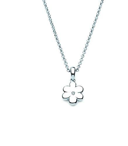 Little Diva Diamonds 925 Sterling Silver Children's Diamond Accent Flower Pendant Necklace, (Natures Accents Bat)