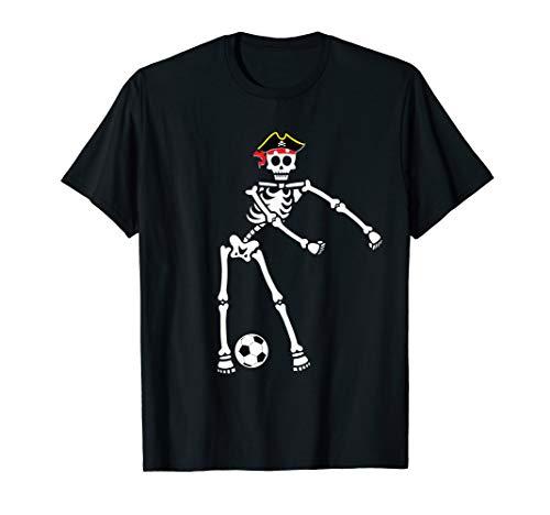 Pirate Costume Ideas For Boys (Pirate Skeleton Soccer Halloween Tshirt Flossing Dance)