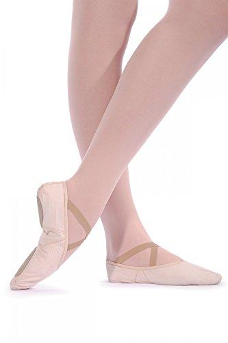 Roch Valley Geteilte Sohle Leinen Ballerins - regular fit Hellrosa