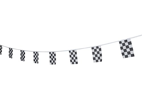 Kind Girl Checkered Flag Racing Flag, Black & White Checkered Flag Racing Pennant Banner Flags,Decorations Supplies Racing,Race Car Party,Sport Events,Kids Birthday,Celebrations,World Cup Matches -