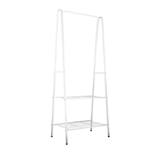 Home-Like Clothing Garment Rack 2-Tier Cloths Metal Coat Rac