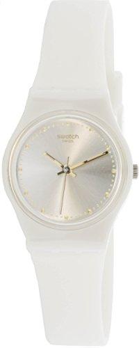 Swatch Women's Originals LW148 White Silicone Swiss Quartz Fashion Watch