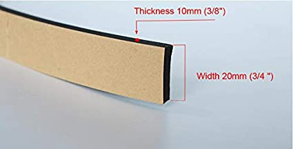 3//8 x 5//8 inch 10 Ft 3m Foam Seal Tape Self Adhesive Weather Stripping Insulation Foam Neoprene Weather Stripping 15mm Width Feet 10mm Thickness