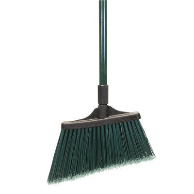 O'Cedar Commercial 91360 MaxiSweep Angle Broom, Flagged Bristles, Green Fiberglass Handle (Pack of 4)