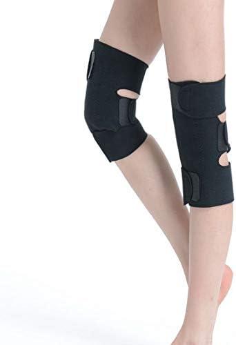 LilyAngel 自己発熱磁気療法健康膝パッド トルマリン自己発熱膝パッド OK生地膝パッド (Color : ブラック)