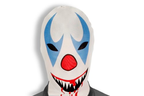 Red And White Morphsuit (Morphsuits Morphmask Premium Killer Clown, White/Red/Blue/Black, One Size)