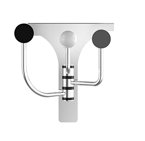 "Triple Door Folding - GOLDCHEE Creative Over The Door Swivel Removable Door Back Hook, Cloakroom Hook Hanger, Seamless Nail-Free Coat Hook, Stainless Steel Heavy Duty Folding Triple Cupboard Door Hook(1.77"")"