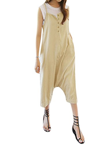 uxcell Two Way Sleeveless Oversize Jumpsuit