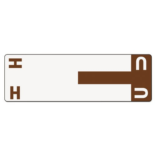 Smead - Alpha-Z Color-Coded First Letter Name Labels, H & U, Dark Brown, 100/Pack 67159 (DMi PK