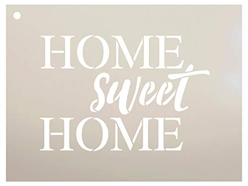 Home Sweet Home Stencil by StudioR12 | Reusable Mylar Template | Use to Paint Wood Signs - Pallets - Walls - DIY Home Decor - Select Size (14