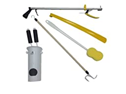 Helping Hand Home Dressing Stick Long Reacher Grip Hip Kit Deluxe 5 Piece Std by Helping Hand