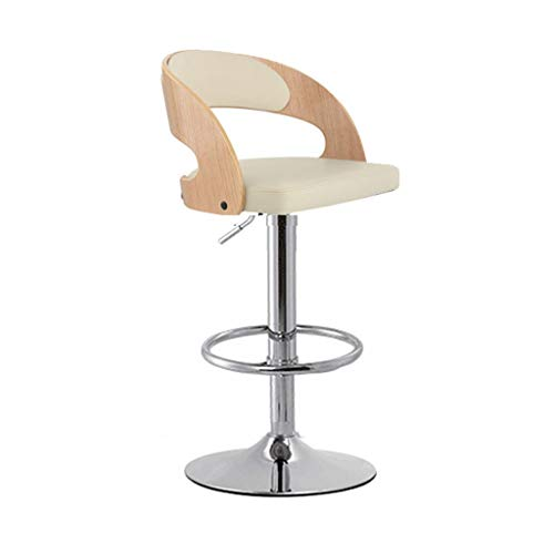 MLX Bar Stool, Front Desk Lift Rotating High Stools, Stylish and Simple Backrest Swivel Chair (Color : B)