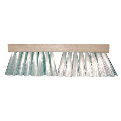 Heavy-Gauge White Plastic Street Brooms - 16in white plastic street broom