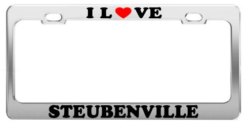 I Love STEUBENVILLE License Plate Frame Car Truck Accessory Gift
