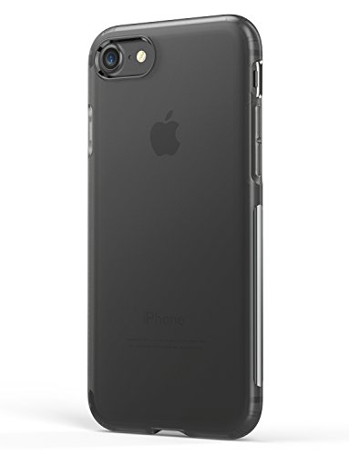 Anker Karapax Slim Fit Touch Case with Matte Finish, Flexible Soft TPU Cover Shell Skin, Supports Wireless Charging for Apple 4.7 in iPhone 8 / iPhone 7, Black