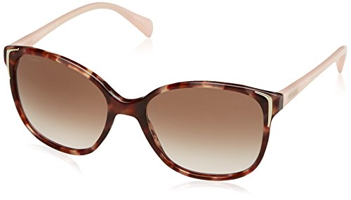 Prada PR01OS UE00A6 Spotted Brown / Pink PR01OS Round Sunglasses Lens - International Prada