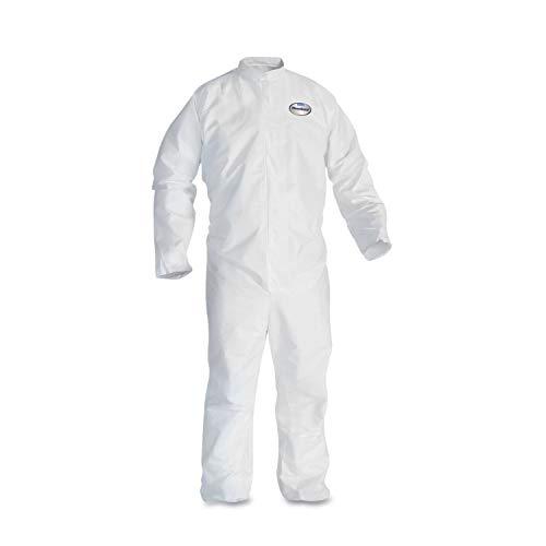 KleenGuard A30 Elastic-Back Coveralls, White, 2X-Large, 25/Case - 46005