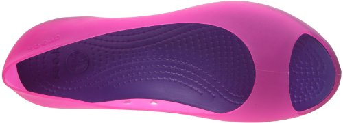 crocs Carlie Flat Blk/Blk W4 11277-060-409 - Bailarinas para mujer Rosa (Fuchsia/ultraviolet)