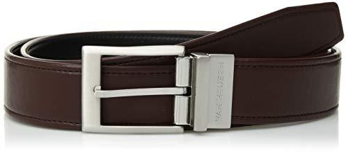 Van Heusen Men's Modern Flex Reversible Dress Belt with Logo, Brown, Medium