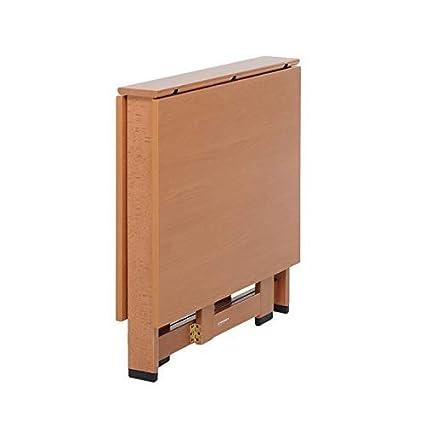 Tavolo Foppapedretti Richiudibile.Foppapedretti Cartesio Tavolo Con Piani Pieghevoli Legno Noce 75x12 5x74 Cm