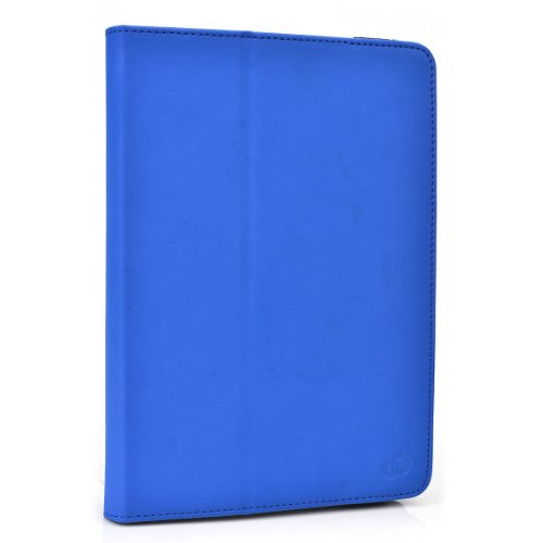 """Icarus Illumina HD PVC Cover Case Folio Stand with Soft Grip Clips - Universal Style fits Most 8"""" Devices 